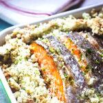 лосось с кинзой под соусом